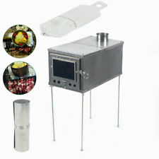Outdoor Camping Titanium Tent Wood Burning Stove Portable Warmer Heating Stove