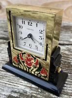 Cartier Paris Pendulette Art Deco Laque Japonaise Luxe Pendule Réveil Vintage