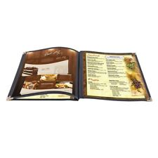 """30 Non-Toxic Menu Covers 8.5x11"""" Black Book Style Cafe 3 Page 6 View"""