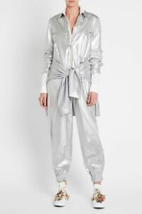 SASS & BIDE RELAXED FIT SILVER JUMPSUIT RRP$490 size L