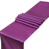 """12""""x108"""" Satin Table Runner Rectangle Wedding Party Banquet Decorations"""