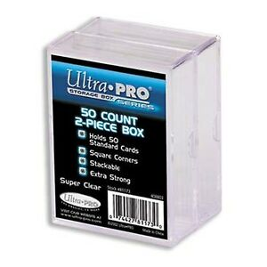 UltraPro Ultra Pro Card Storage Box 50ct 2 Pack | 2 Piece Acrylic Trading Card