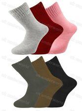 3 Pairs Ladies Plain Merino Lambs Wool 2.4 Tog Socks Womens Walking Work Boots