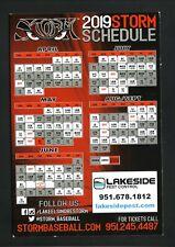 Lake Elsinore Storm--2019 Magnet Schedule--Padres Affiliate