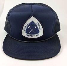 Vintage Snapback Hat Phoenix REDI-MIX Company Inc Navy Blue Foam Mesh Trucker
