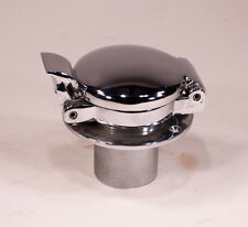 "Round Fuel Filler - Chrome Plated Brass for 2"" hose 4"" Flange Genuine Enots"