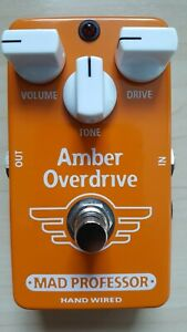 Mad Professor Amber (hand wired) overdrive (fuzz) pedal MINT