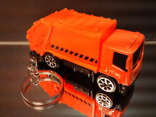 Orange Recycling Sanitation Garbage Truck Key Chain Ring