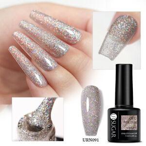 105Colors UR SUGAR UV Gel Nail Polish Glitter Soak Off UV LED Gel Varnish Salon