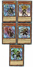 5-card set: Blue Dragon Summoner_Golden Dragon_ Green Turtle_Red Sparrow_Tiger