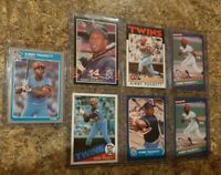 (7) Kirby Puckett 1985 1986 Donruss Fleer Topps Rookie 2nd Card Lot RC Twins HOF