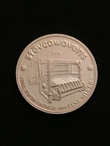 SUPER RARE 1976 Engelhard Stevcowovens Stevcoknit 1-oz 999 Fine Silver Round