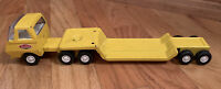 Vintage Tonka Semi Truck and Trailer Mini Yellow Pressed Steel 1970's 2 Pieces