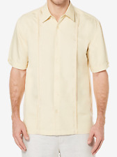 Men's Cubavera Pintucked Embroidered Woven Shirt, Size: M