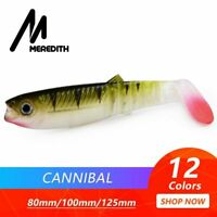 MEREDITH Cannibal Baits 80mm 100mm 125mm Artificial Soft Fishing Lures Wobblers