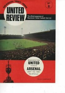 Manchester United v Arsenal 1967/68 Division 1 complete with token