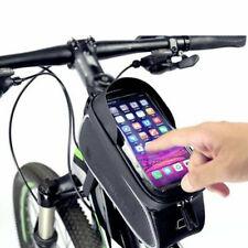Impermeabile Borsa Da Telaio Per Bici Mtb Per Cellulare 6'' Con Touchscreen Nero