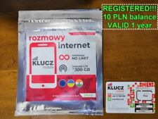 NEW!! PREFUNDED 10 GB / 10 PLN / REGISTERED Poland SIM CARD Internet polska