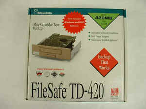 MOUNTAIN FILESAFE TD-420 CONNER CTM 420R-F CTM 420I-F TAPE DRIVE 01-37630-01