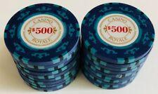 (25) $500 CASINO ROYALE POKER CHIPS