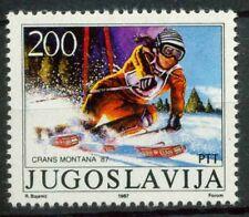 Jugoslavia 1987 SG 2364 Nuovo ** 100% Medaglie jugoslavi al mondo di sci alpino