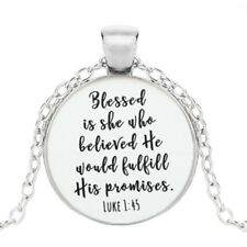 Scripture Necklace,Christian Jewelry,Christian,Confirmation Gift for GirlsSilver