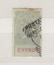 More details for cyprus qv 1882 10/- revenue green vfu postally used scarce j8338
