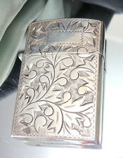 Antique Vintage Sterling Silver Cigarette Lighter