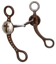 "5"" Tom Thumb Cross Snaffle Bit. copper inlay mouth piece"