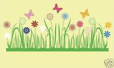 """Wandtattoo Blumen """"Bunte Wiese mit Schmetterlingen"""""""