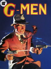 G-MAN PULP DETECTIVE 22X30 ILLUSTRATION DECO pin-up MODERN MID CENTURY CANVAS