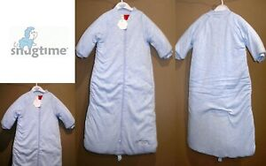 Snugtime Baby Girl Boy Sleeping Bag Blue Tog 3.0 Fit 5 Point Harness Size 1 & 2