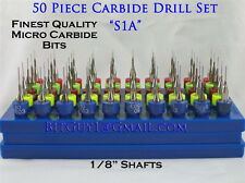 50 Piece Solid Carbide Micro Drill Bit Set  Jewelry_S1A