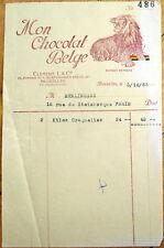 Belgian Chocolate/Mon Chocolat Belge 1935 Letterhead - Brussels/Bruxelles