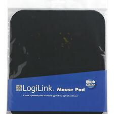 LogiLink Mauspad schwarz ID0096 Mousepad für Laser Kugel und Maus Pad Optisch