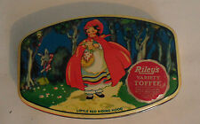Vintage Riley's Toffee Tin Little Red Riding Hood Halifax England Riley Brothers