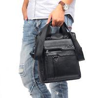 Men Genuine Leather Cross Body Messenger Shoulder Bag Briefcase Tote Handbag New