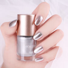 9ml NICOLE DIARY Nail Art Polish Silver Metallic Mirror Effect Varnish Tools DIY