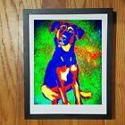Soka German shepherd pop art 8.5x11 Unframed  Print Abstract hound dog artwork