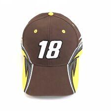 NWT Nascar Licensed #18 Kyle Busch M&M's Joe Gibbs Racing Adult Hat - S13-29