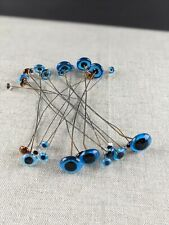 Lot 15 Pairs Antique  Glass Doll Eyes on Wire Bear Taxidermy Decoy