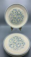 Lenox (7) Vintage Temper-Ware Dewdrops Dew Drops Dinner Plates Plate Floral Blue