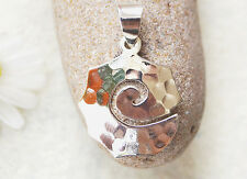 Anhänger Spirale Silber 3,2 cm Kettenanhänger Hammerschlag Symbol Kelten Modern