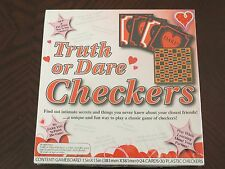 New Truth Or Dare Adult Checkers Board Game 2010 Eastern Unlimited Valentine
