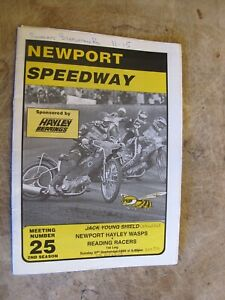 1998 Motorcycle Speedway Programme - Newport Wasps v Reading Racers