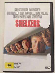Sneakers - DVD - R4 - Robert Redford - Dan Aykroyd - Ben Kingsley - PG