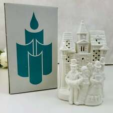 """Partylite """"Village Carolers"""" ~ Tealight Candle House ~ #P0204 ~ Retired~pristine"""