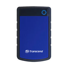 "Transcend StoreJet 25H3B 2TB 2.5"" External HDD Anti-shock protection"