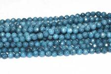 "Natural 4mm dark Aquamarine Faceted Gems Round Loose Beads 15"" AA PL12"