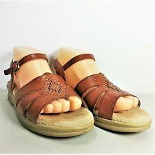5644fb38cb60 SAS Huarache Tripad Comfort Women Woven Brown Ankle Strap Sandal Size 8N  Narrow